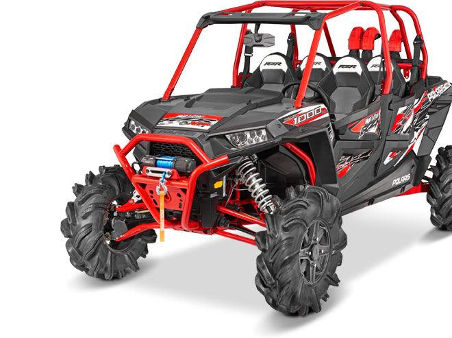 Stock photo of a red Polaris RZR Utility Vehicle